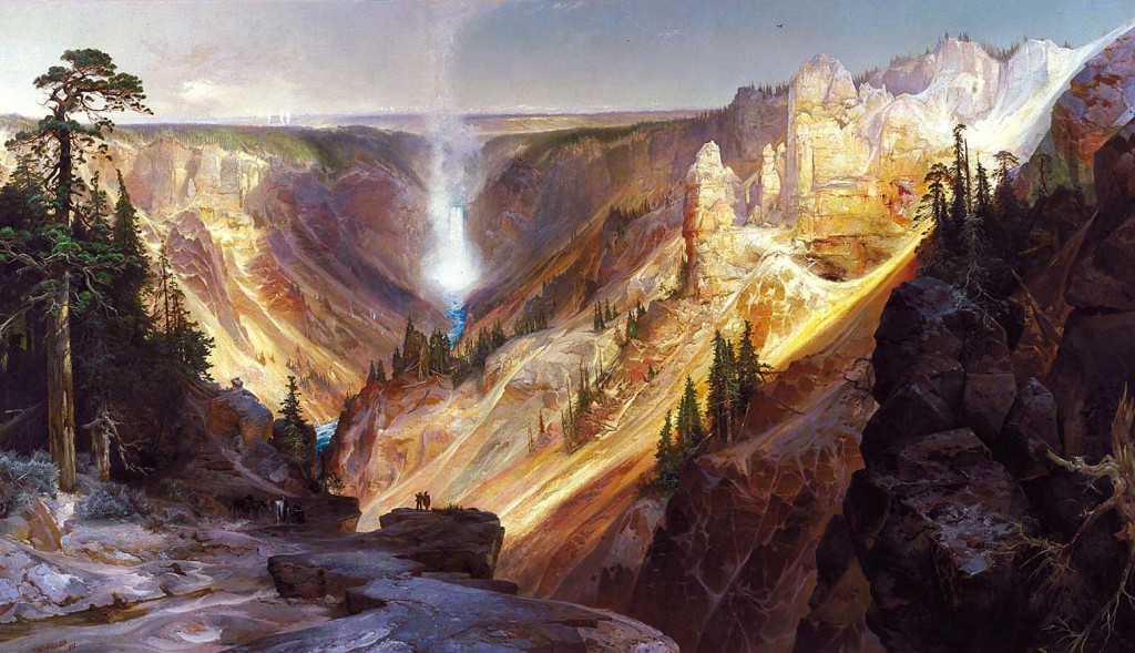 The Grand Canyon of Yellowstone as depicted by Thomas Moran.