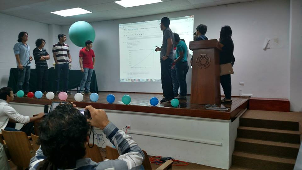 Presenting their results